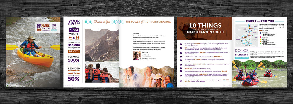 Client:  Grand Canyon Youth   Project:  2017 Annual Report