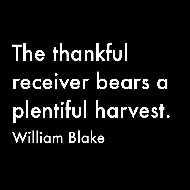 We are thankful for our community and the food we share everyday. Hope you all had a full, restful weekend. #thankful #harvest #williamblake