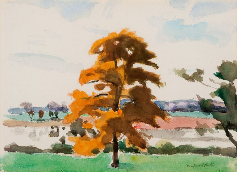 Fairfield Porter, Autumn Tree, circa 1964