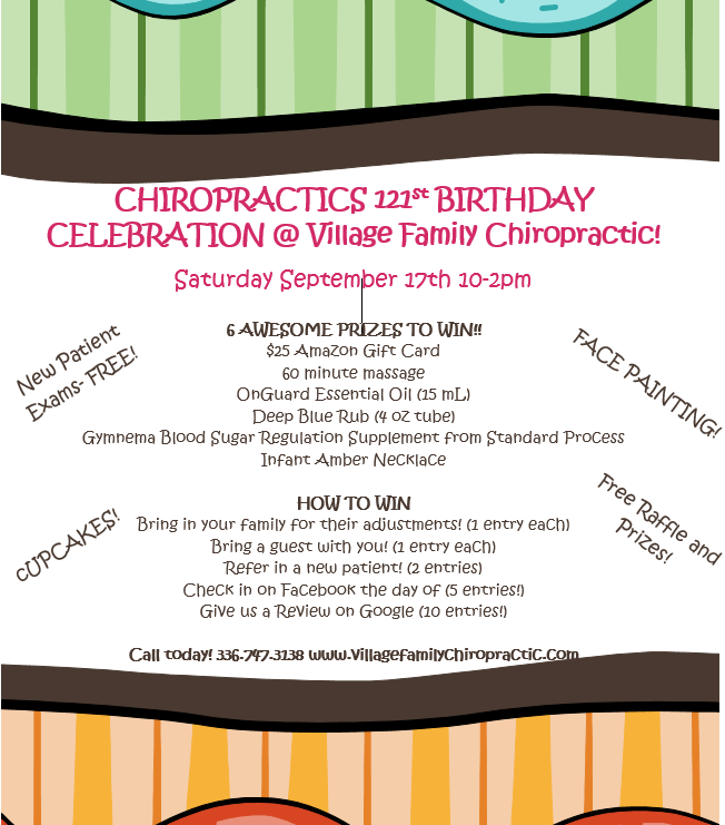 Chiropractics 121st Birthday Celebration Village Family Chiropractic