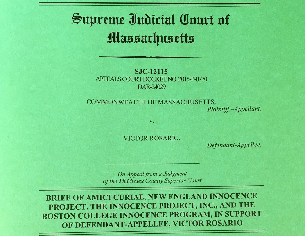 Commonwealth of Massachusetts v. Victor Rosario.