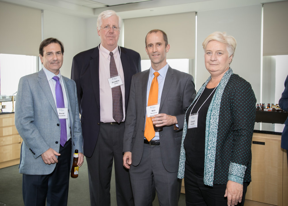 From left: David P. Rosenblatt, Douglas M. Henry, NEIP board member William Swenson and NEIP Treasurer Cheryl Schaffer