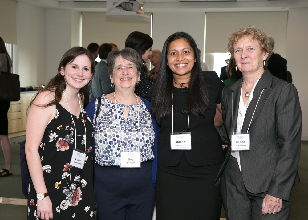 From left: Elaine Emmerich, Eve Horwitz, NEIP staff attorney Radha Natarajan and NEIP Executive Director McWilliams