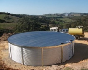 100,000 Litre Water Tank. This tank's capacity would hold the average yearly quantity of water required for greywater fixtures to function in a 3 person household.