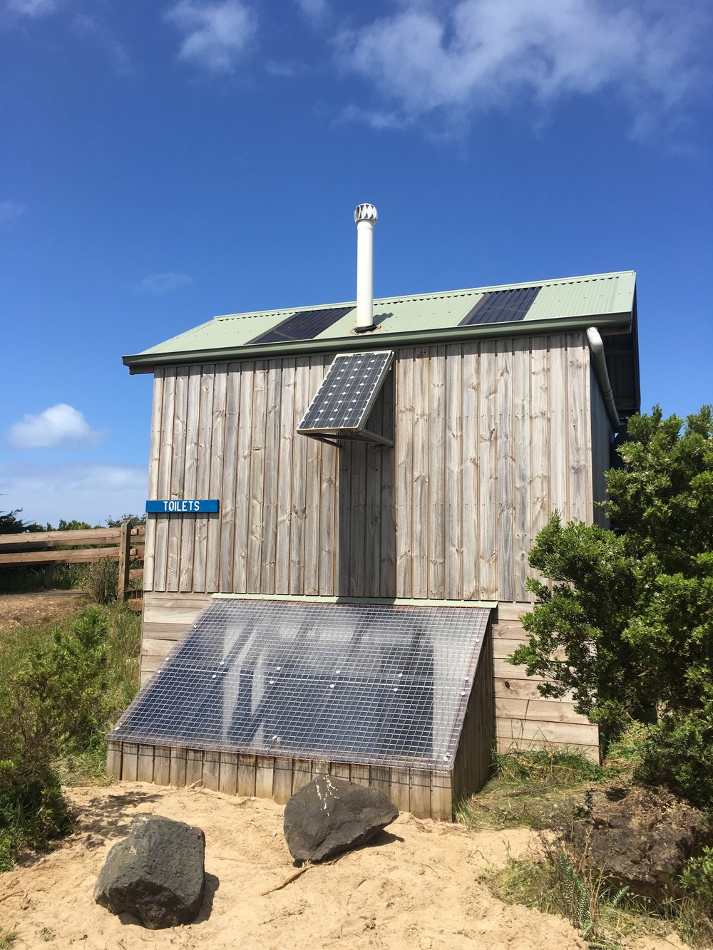Commercial Composting Toilet Project for DELWP installed in Narrawong by Zenplumb