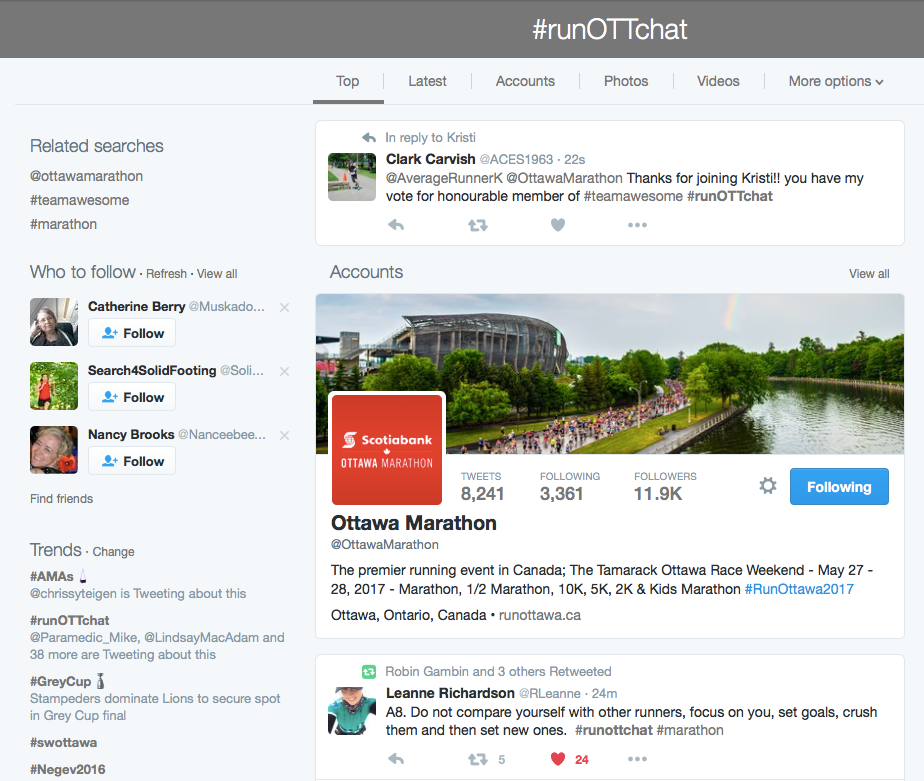 #runOTTchat trends to number two!
