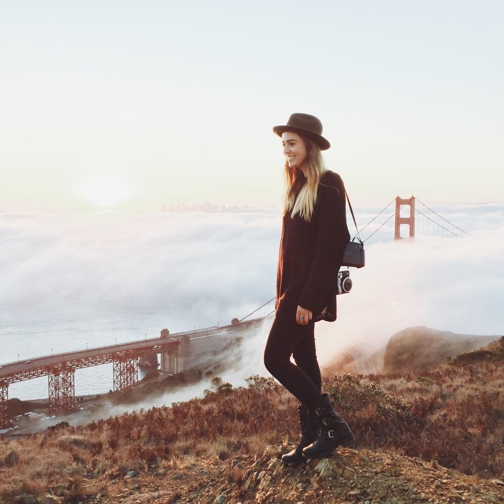 Me, above the clouds on my 25th birthday // Slacker Hill;Sausalito, CA - Photo by: Sam hylton