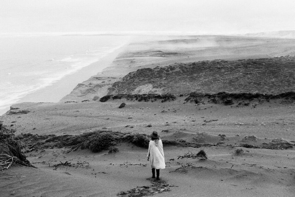 Sara in the Sand Dunes // Photo by: Harry Glazier
