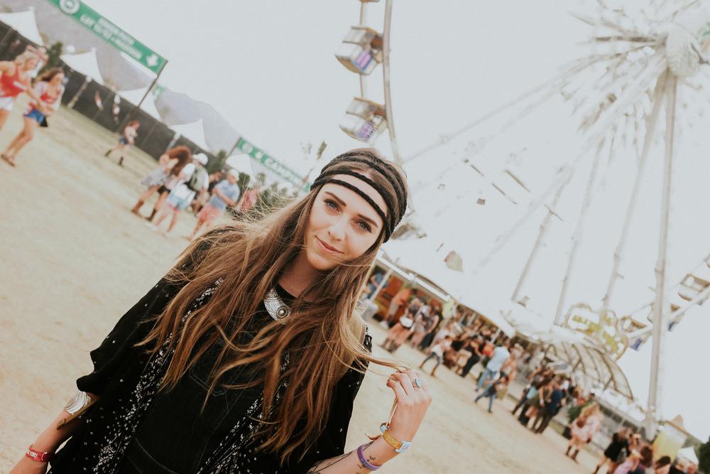 Sara and the Wheel // Empire Polo Fields; Indio, CA