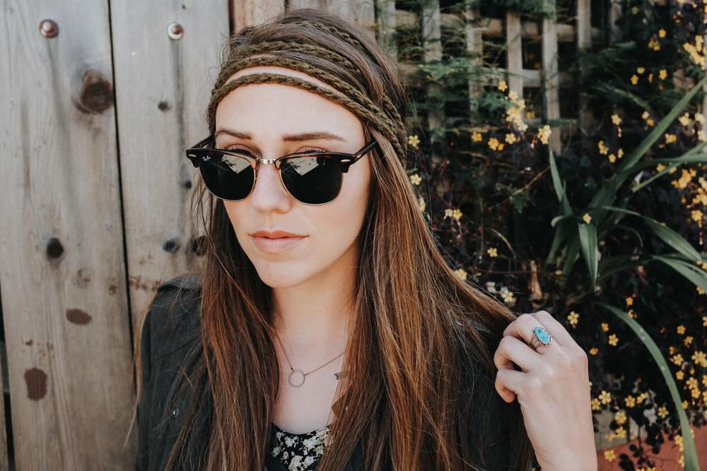 "Sara wearing Little J Headbands in ""Army"" // Photo: Shawn Whelchel"