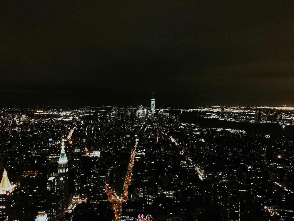 Manhattan from the observation deck of the empire state building // NYC, ny