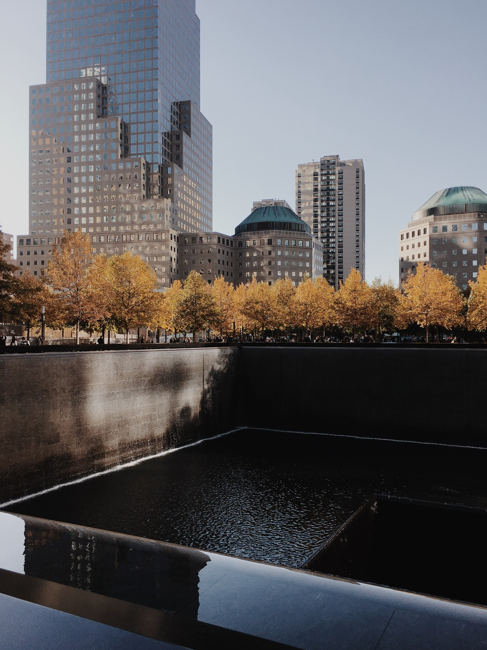 refelcting absence // World trade center; manhattan, ny