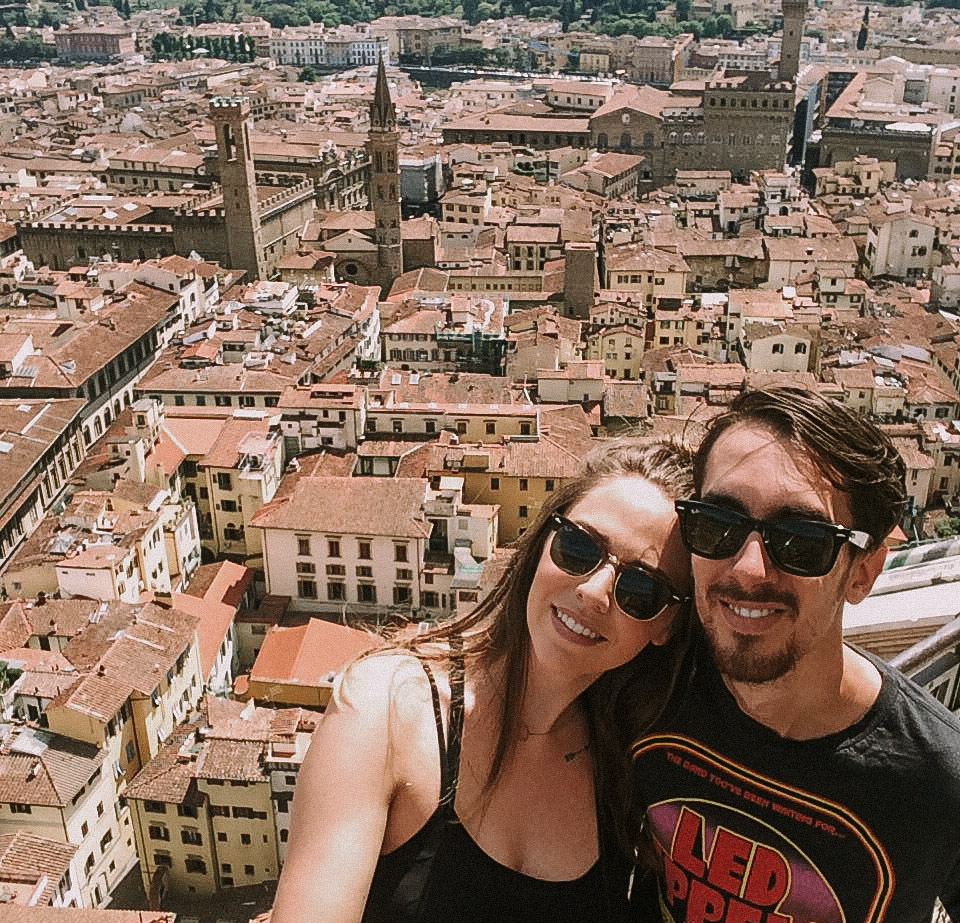Sara and Shawn atop the Duomo // Florence; Italy