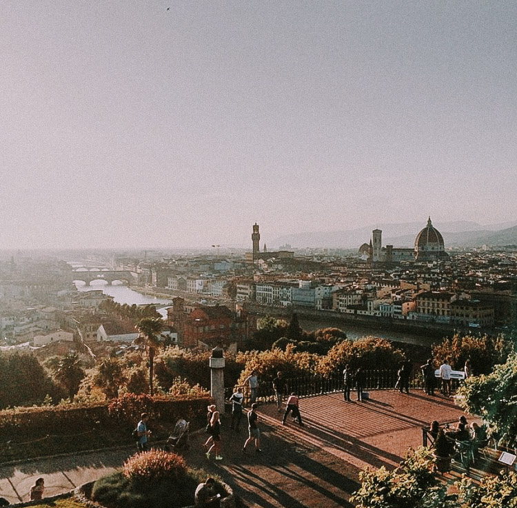 Piazzale Michaelangelo at sunset // florence, italy