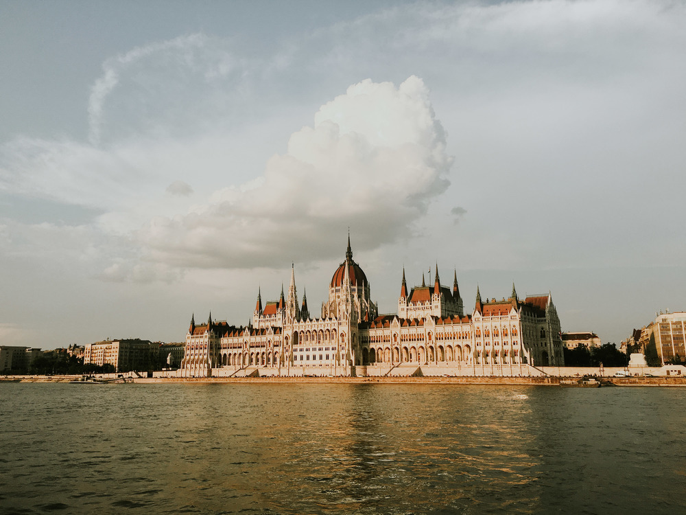Cruising the Danube River at Sunset // Budapest, Hungary