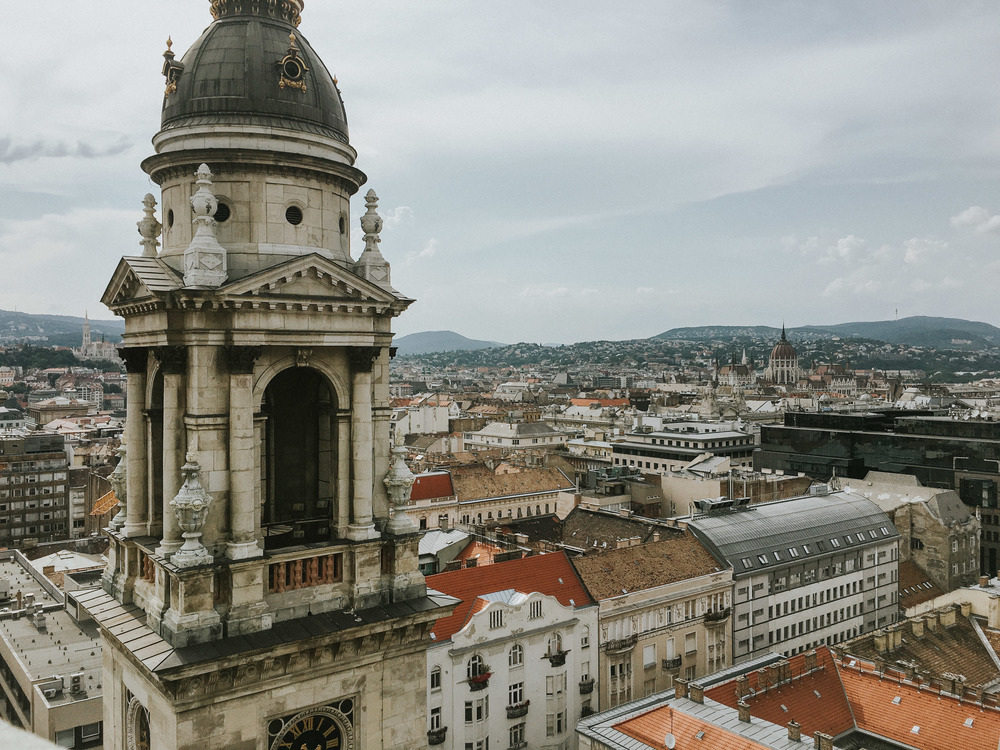 Budapest from a top St. Stephen's Basilica  // Budapest, Hungary