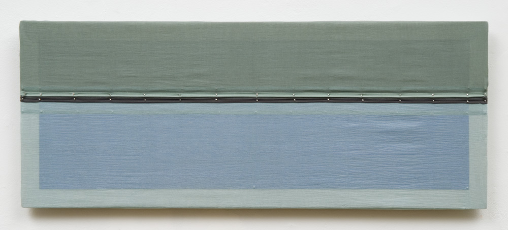Silk Spaces 256, mixed media painting, 8 x 20 inches, 2011
