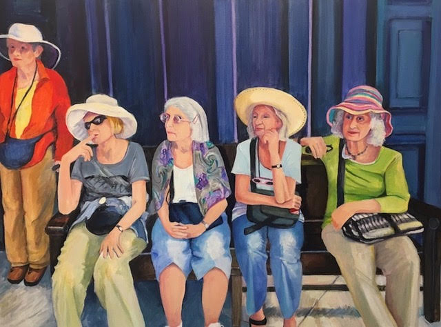 Cuban Tourists, oil on canvas, 30 x 40 inches, 2017