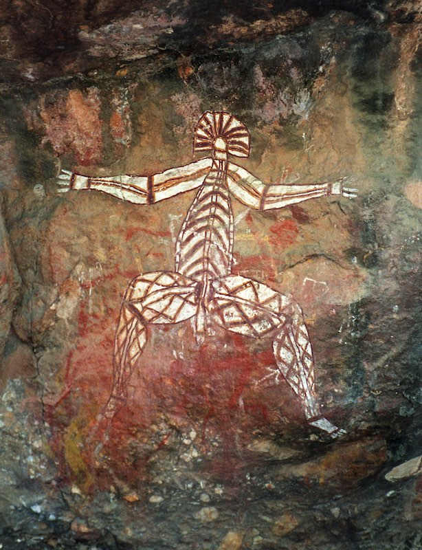 The Dangerous Man,    Aboriginal pictograph, Northern Territory, Australia