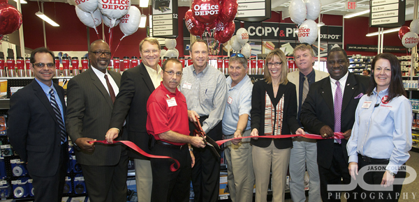 St. Petersburg Mayor Bill Foster (3rd From Left) Helps With A Ribbon  Cutting Ceremony For A New Office Depot On 34th Street ...