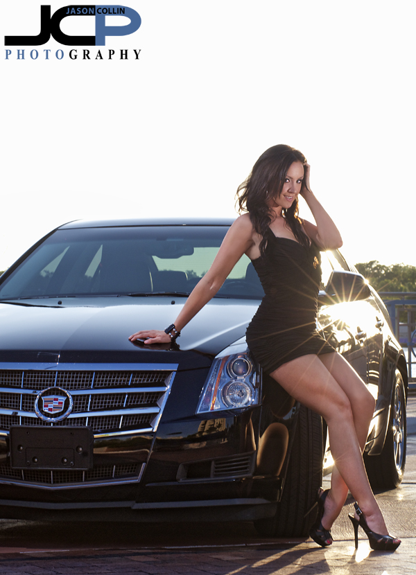 Cadillac Cts Tampa Car Commercial Photography Model Sunset Black Dress