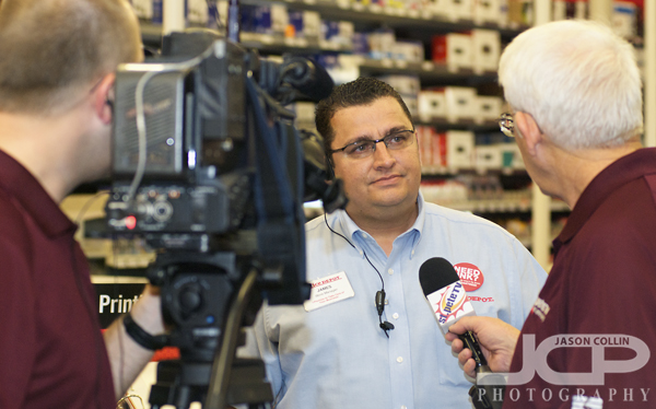 St. Pete TV Was There Filming The Event And Interviewing Office Depot  Managers And Other ...