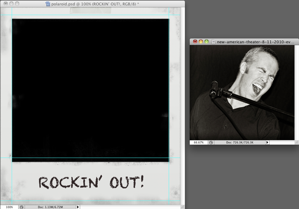 photography tip rockin out photoshop faux polaroid template