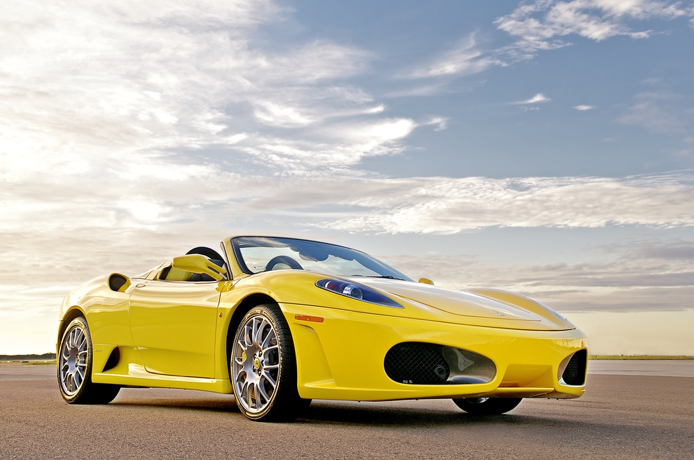 Ferrari F430 Spider yellow Florida Car Photography