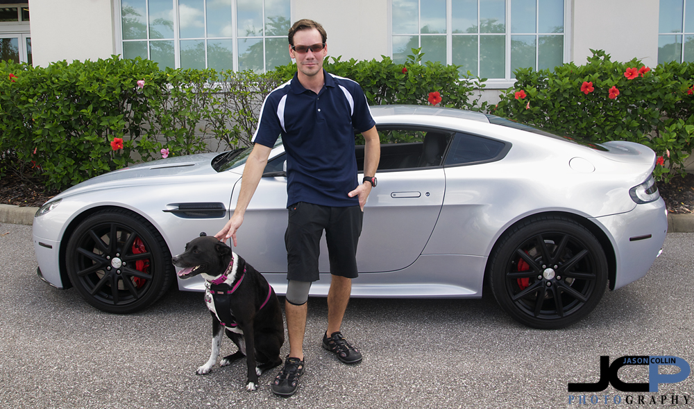 Kiki and I got in one photo of us with the Aston Martin V8 Vantage before leaving Tampa Bay for good after 6 years living there together.