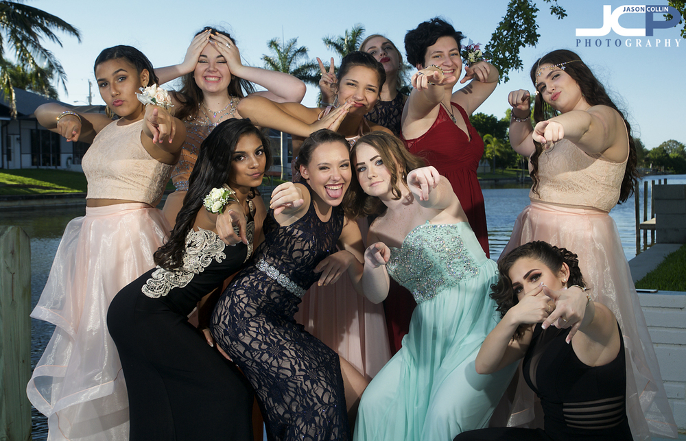 Just the ladies before prom 2016 in Cape Coral - Nikon D300 with Tamron 17-50mm @ f/9 1/250th ISO 200 - Strobist: SB-800 & SB-600 with diffuser caps
