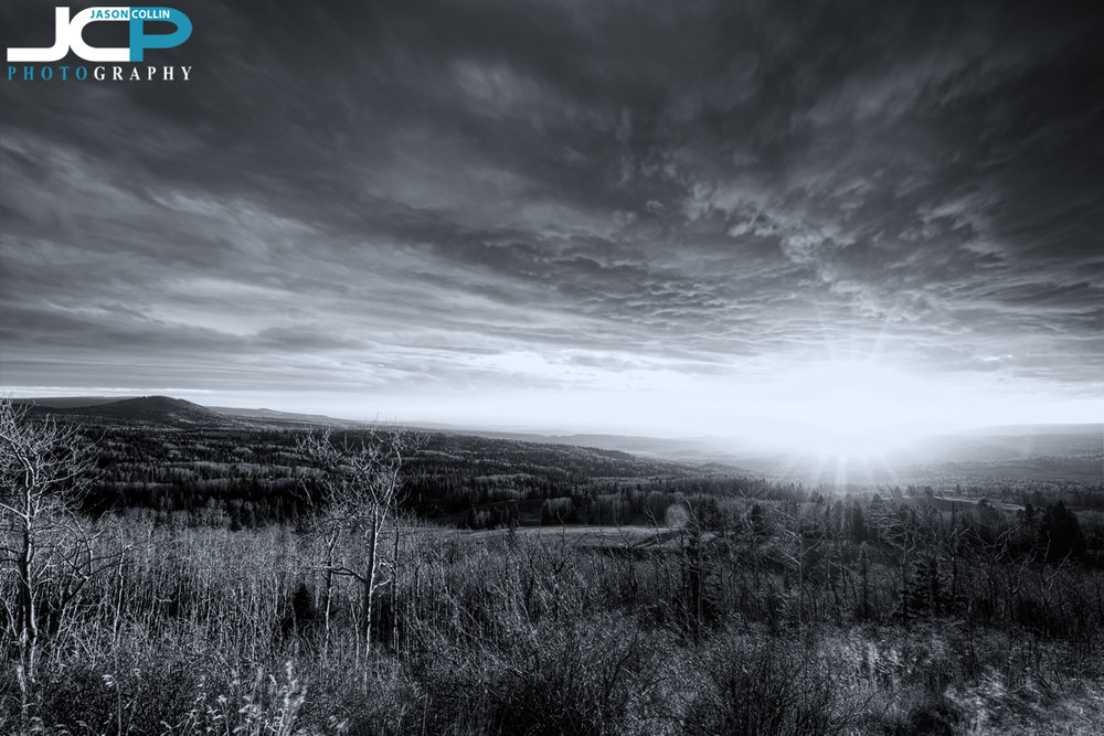 Turning a sunset black & white in Rio Arriba County New Mexico - Nikon D750 with Tamron 15-30mm @ f/11 ISO 100 7-bracket HDR tripod mounted