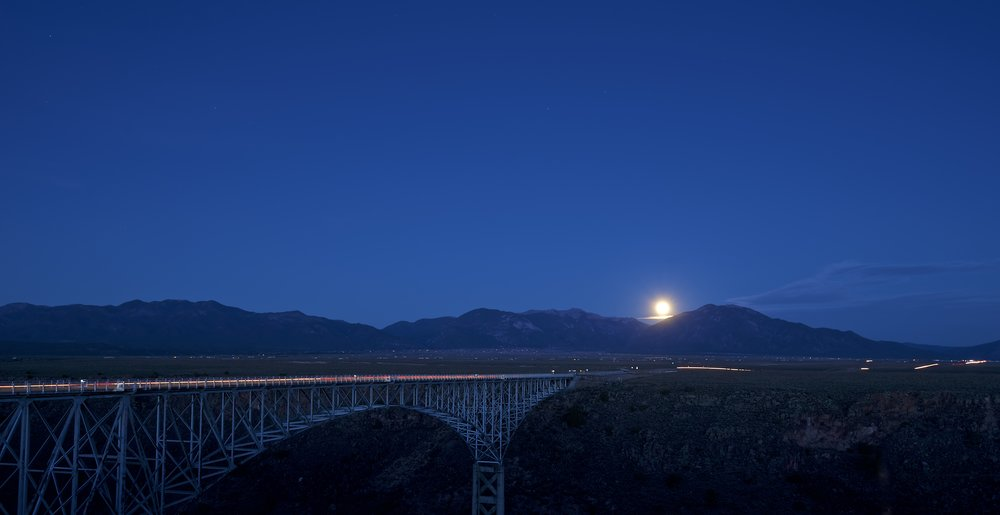 Rio Grande Gorge Bridge Moon Rise