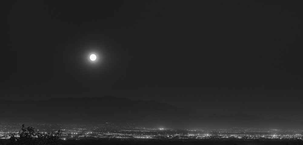 Albuquerque Black White Moonscape