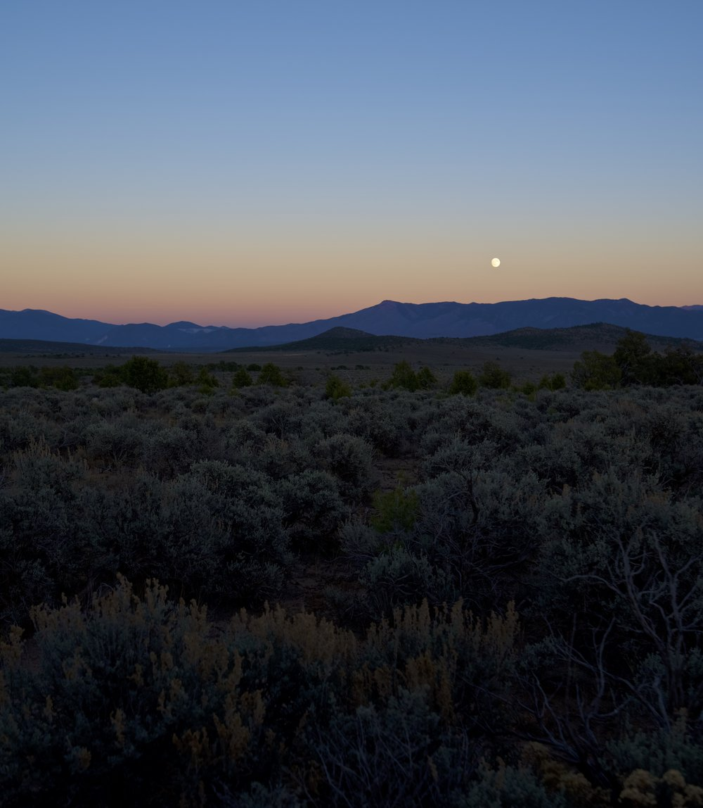Purple High Desert Moon Rise