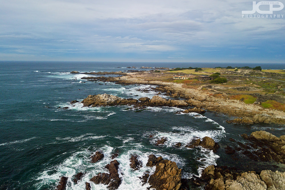 A view of the stunning Pacific Grove coast line that comprises Asilomar Beach - photo made with DJI Mavic Pro drone with PolarPro filter
