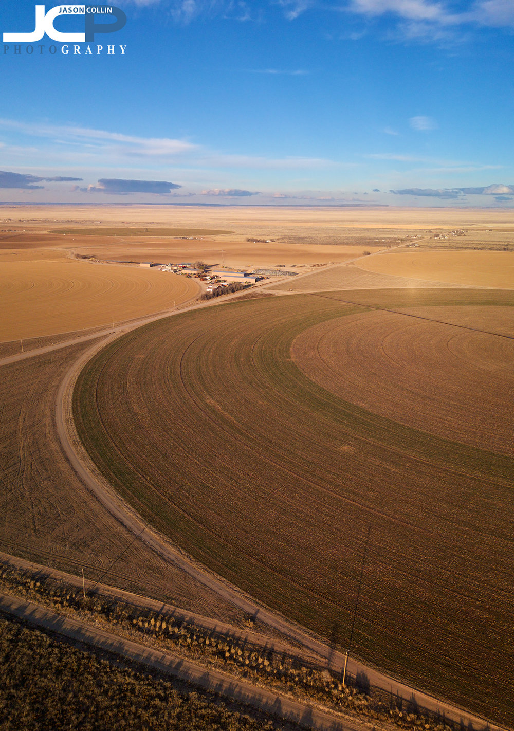 Rural New Mexico drone photo of Moriarty farmland - made with DJI Mavic Pro & PolarPro ND8 filter