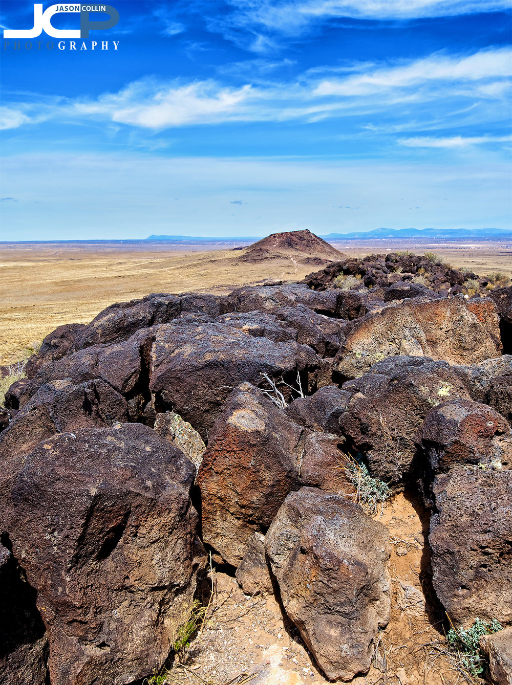 Atop Black Volcano at Petroglyphs in New Mexico - Nikon D750 with Tamron 15-30mm lens