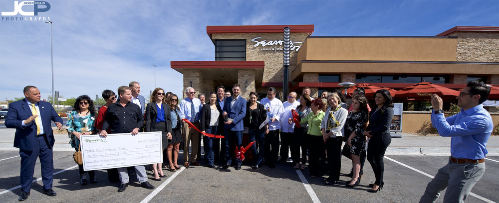 Albuquerque New Mexico event photography ribbon cutting for Seasons 52 and the Hispano Chamber of Commerce
