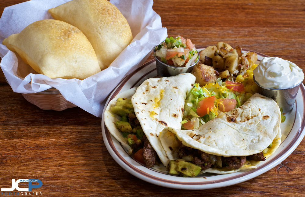 Natural light food photography in Albuquerque, New Mexico at Papa Felipes Mexican Restaurant