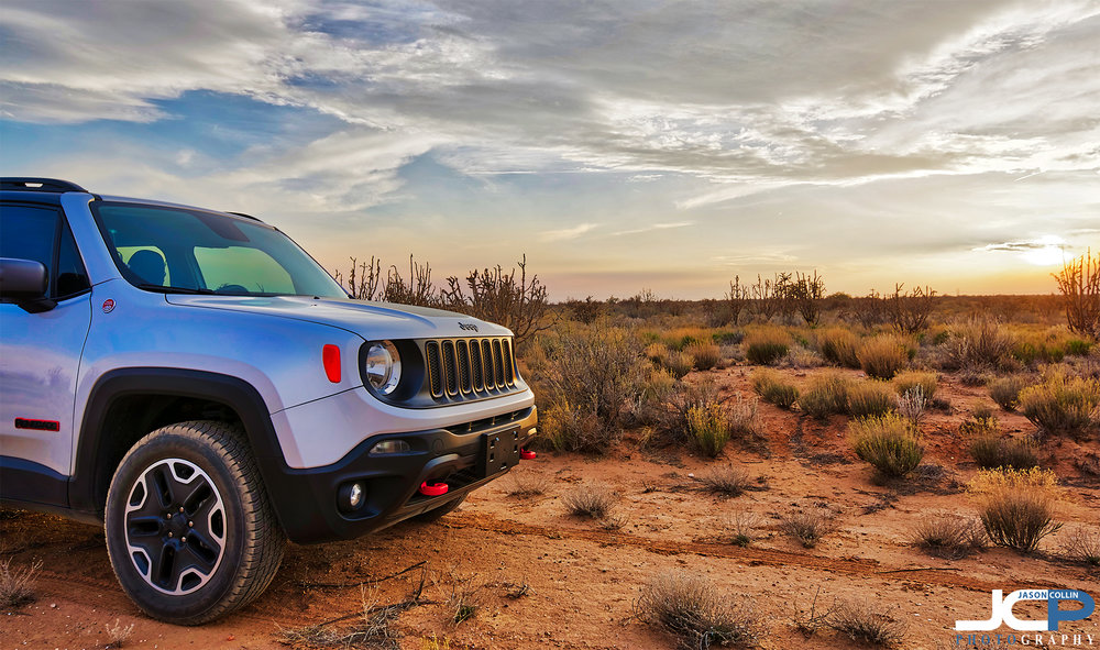 My Jeep Renegade Trailhawk out in the New Mexico desert - Nikon D750 with Tamron 15-30mm f/2.8 SP lens tripod mounted 5-bracket HDR processed in Aurora HDR 2018