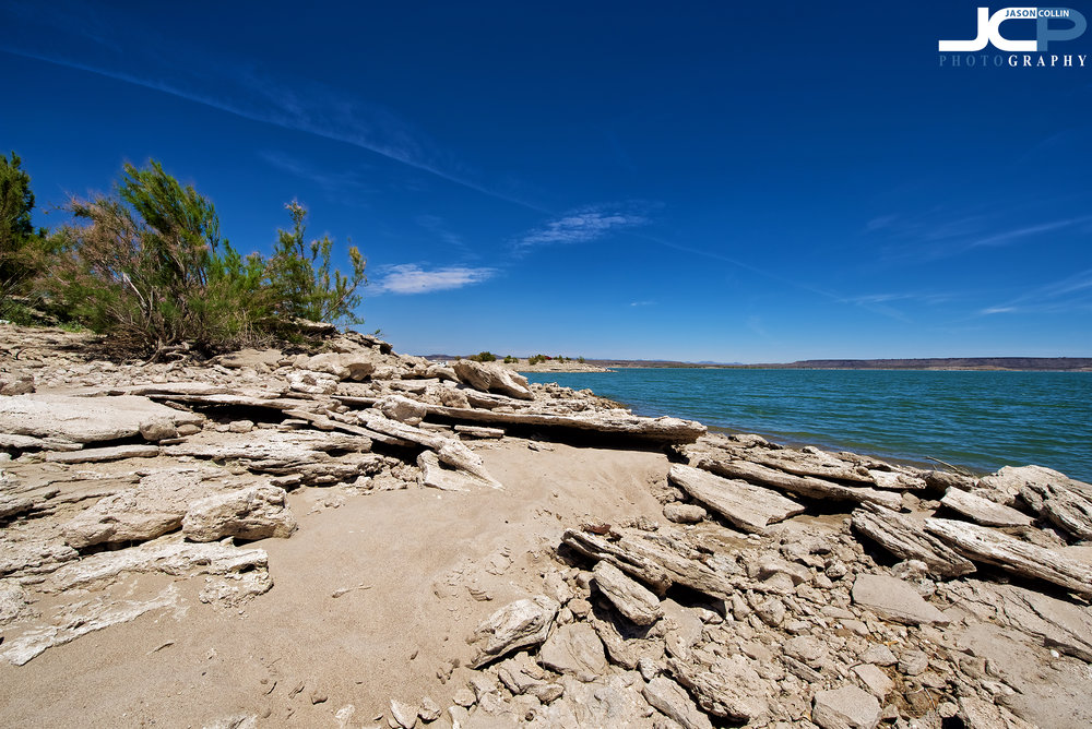 Elephant Butte Lake rocky shore New Mexico