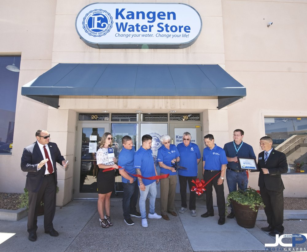 Ribbon Cutting event for Kangen Water in Albuquerque, New Mexico hosted by the Albuquerque Hispano Chamber of Commerce.