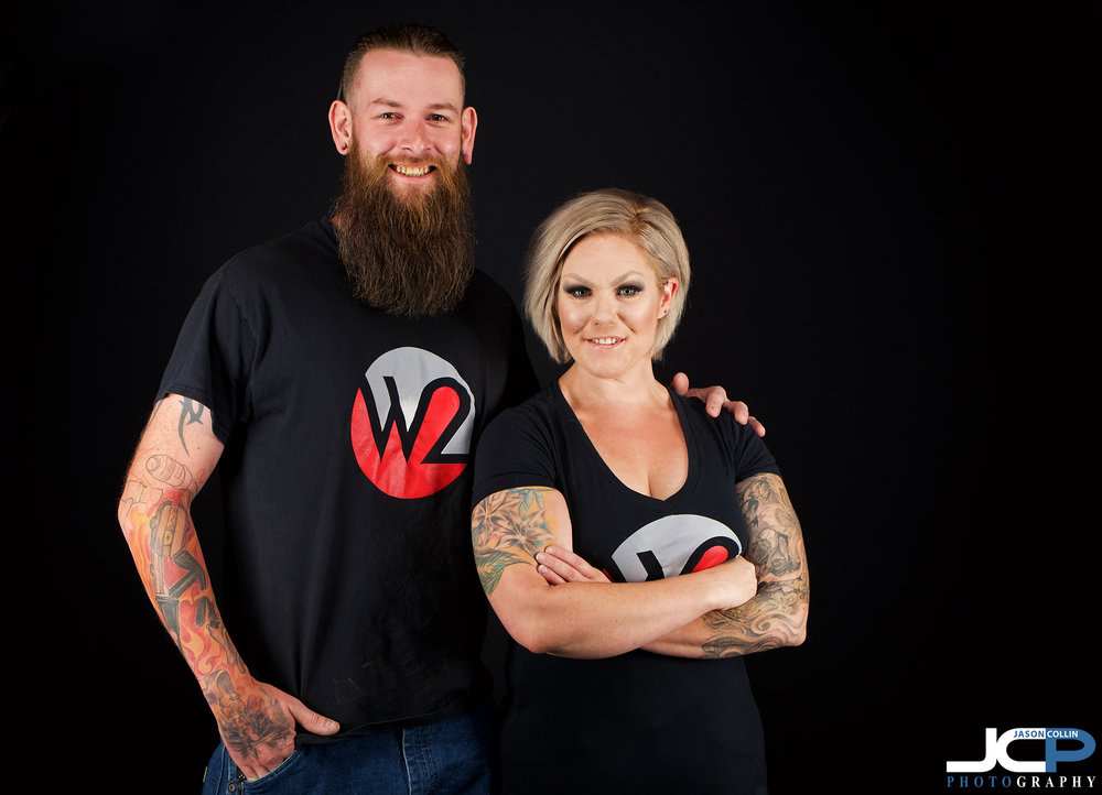 Heather and Cameron visited the JCP Home Studio in Albuquerque for this business couple headshot!