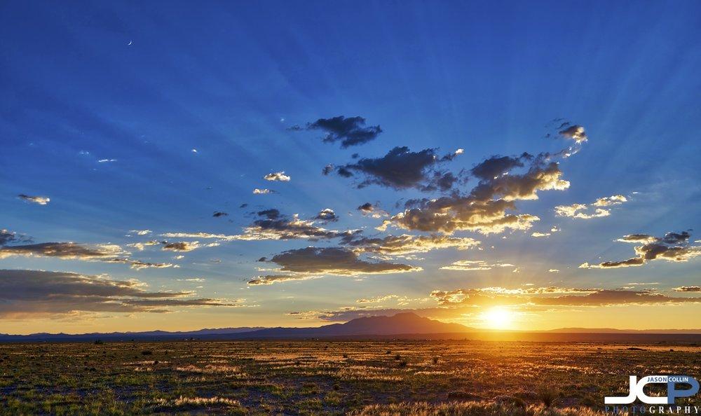 Sunset over Socorro County New Mexico