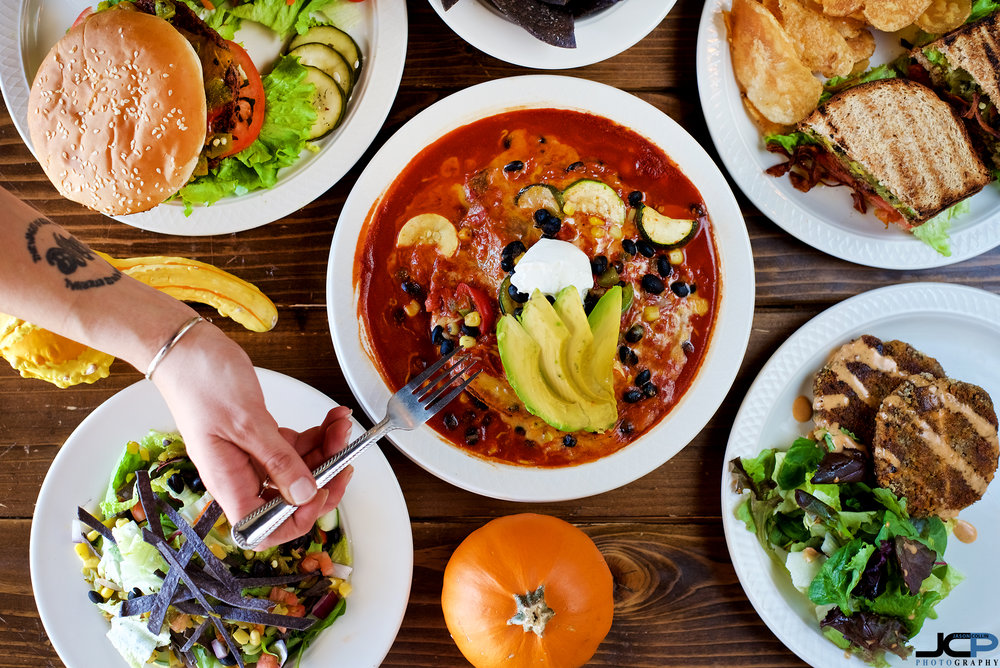 Hero shot food photography in Albuquerque New Mexico at The Acre vegetarian restaurant