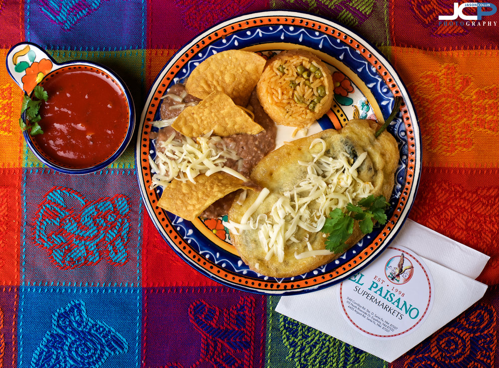 A colorful meal in a colorful setting - Santa Fe New Mexico food photography at El Paisano Supermarket