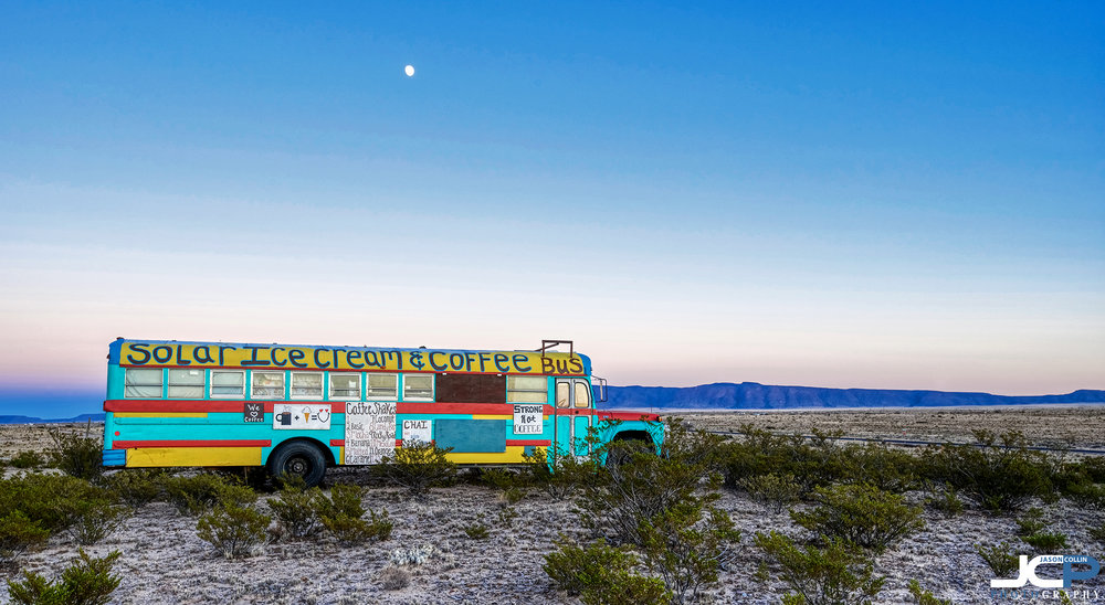 I wonder what the last thing ordered from this coffee ice cream bus was? - made with a Nikon D750 and Tamron 15-30mm tripod mounted 5-bracket HDR processed in Aurora HDR 2019