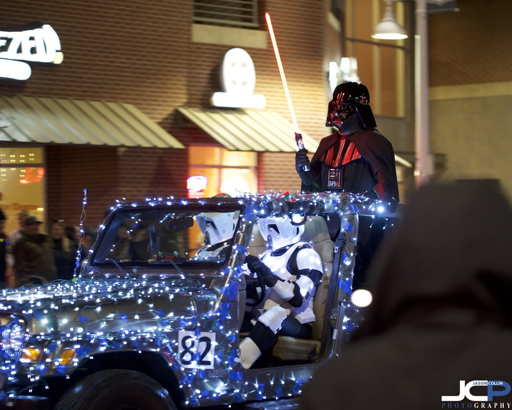 Vader lords over the 2018 Albuquerque, New Mexico Twinkle Light Parade