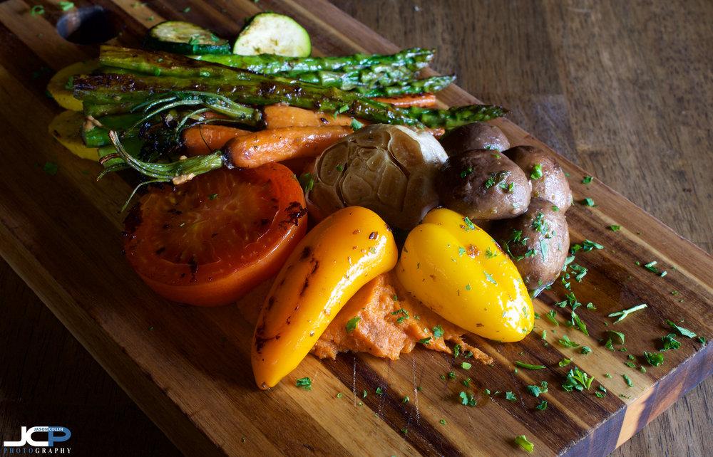vegetarian platter albuquerque new mexico food photography