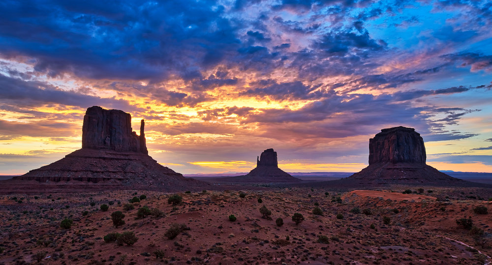 Five Favorite Category: LANDSCAPE — The Mittens of Monument Valley, Utah at sunrise